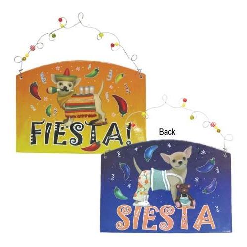 Aye Chihuahua 13393 Fiesta or Siesta Chihuahua Plaque
