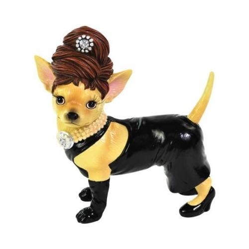 Aye Chihuahua 13768 Black Dress Chihuahua Figurine