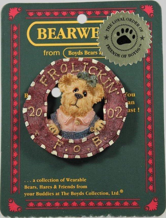 Boyds Bears Collection 02002-11 Frolickin F O B 2002 Adorable bear