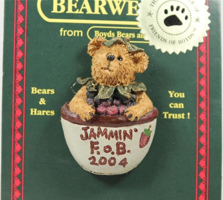 Boyds Bears Collection 02004-11 Jammin F O B 2004 Adorable bear