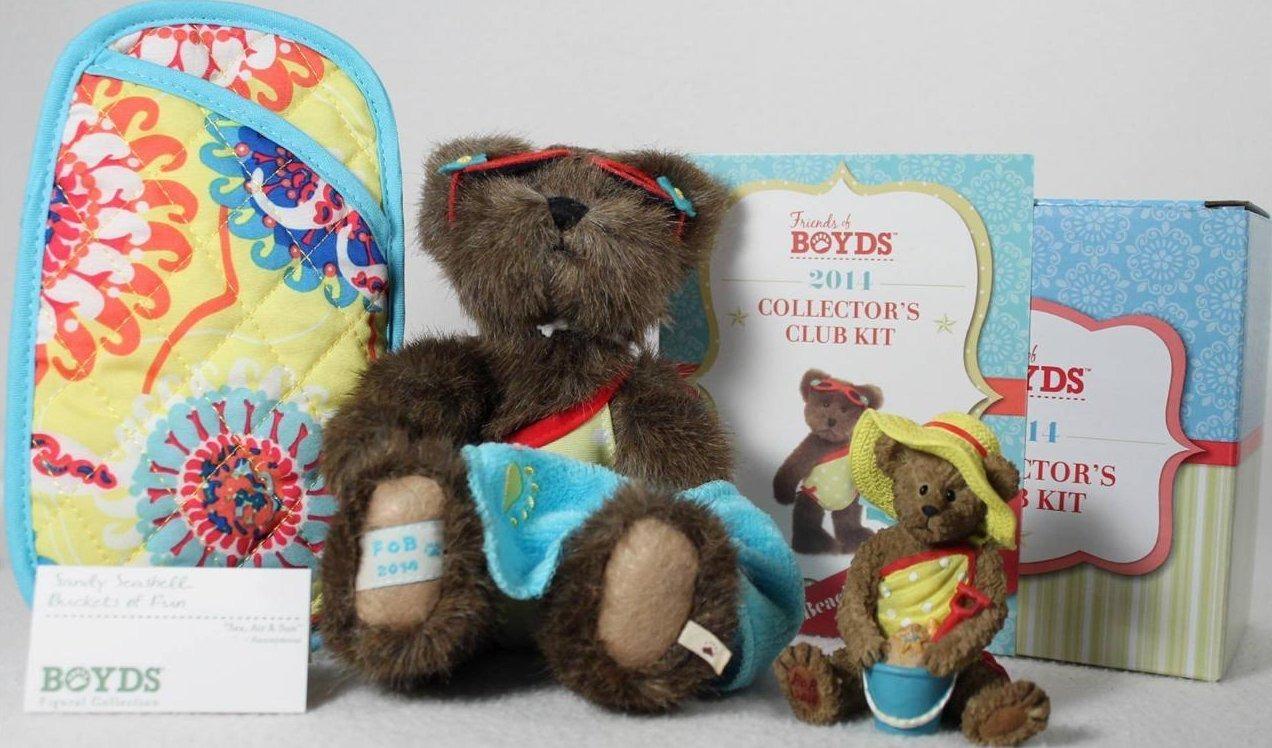 Boyds Bears Collection 02014-15 Sandy Seashell Plush+ +Sunglass 2014 Club Kit