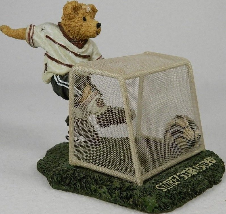 Boyds Bears Collection 2277801 Bearstone Sammy Hattrick Score Playing Soccer