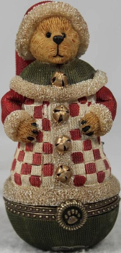 Boyds Bears Collection 4018013 Treasure Box Nichol Kringle Klaus With Bell Ornament