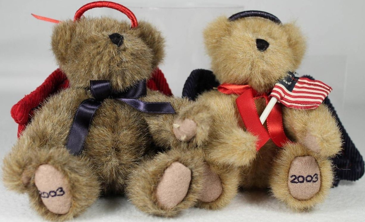 Boyds Bears Collection 562454&562455 Freedom & Liberty 2 Angel Bears