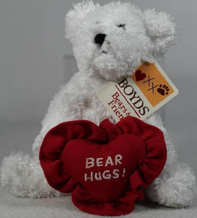Boyds Bears Collection 82050 Bear Hugs White Bear With Heart