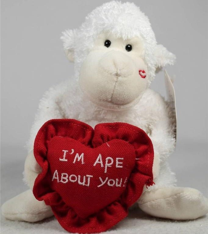 Boyds Bears Collection 82053 I m Ape About You White Ape With Kiss