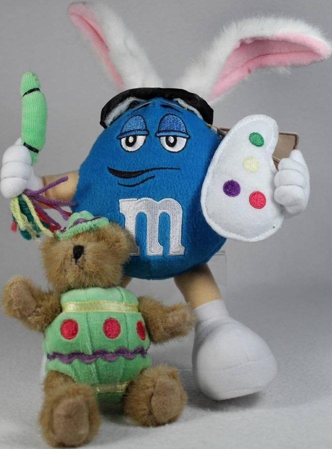 Boyds Bears Collection 9190003 M & M s Plush Egglebeary with Blue