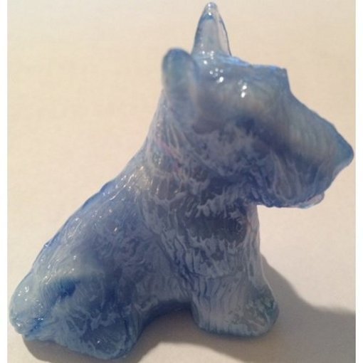 Boyd's Crystal Art Glass BYDDUCottonCarn Duke Scottie Dog Cotton Carnival