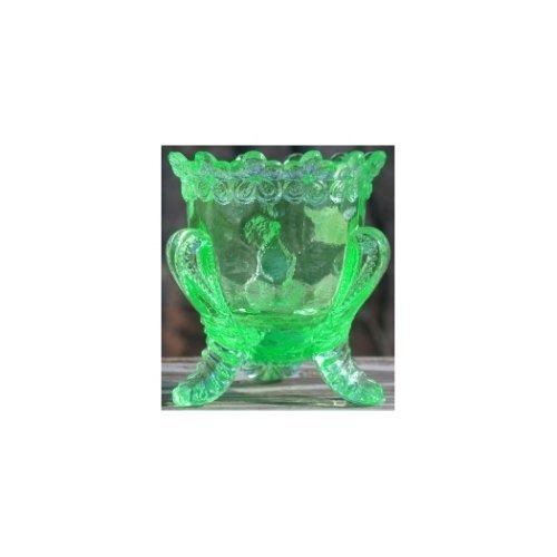 Special Sale BYDFMNPeridot Boyd's Crystal Art Glass FMN Forget me Not Toothpick Holder Peridot