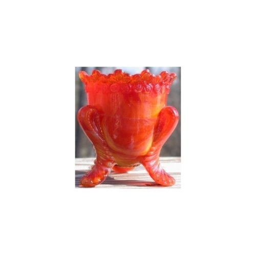 Boyd's Crystal Art Glass BYDFMNRubyGold Forget Me Not Toothpick Holder Ruby Gold