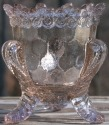 Special Sale BYDFMNOops Boyd's Crystal Art Glass FMN Forget me Not Toothpick Holder Oops