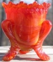 Special Sale BYDFMNRubyGold Boyd's Crystal Art Glass FMN Forget me Not Toothpick Holder Ruby Gold