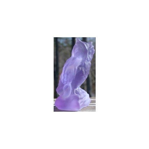 Special Sale BYDOWLCloudberryStn Boyd's Crystal Art Glass OWL Owl Cloudberry Satin