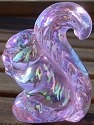 Special Sale BYDSSPearlyPinkCarn Boyd's Crystal Art Glass SS Sammy Squirrel Pearly Pink Carnival - Exclusively Made for Us!