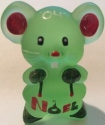 Special Sale BYDWMAloeStnHPXmas Boyd's Crystal Art Glass WM Willie Mouse Aloe Satin Hand Painted Christmas