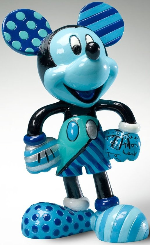 Disney by Britto 4019375 Mickey Figurine Blue Figurine