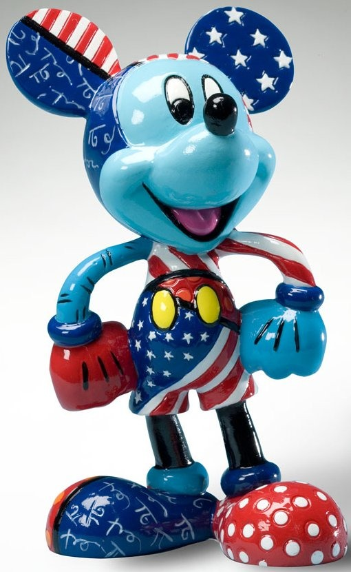 Disney by Britto 4020810 Mickey Figurine Patriotic Figurine
