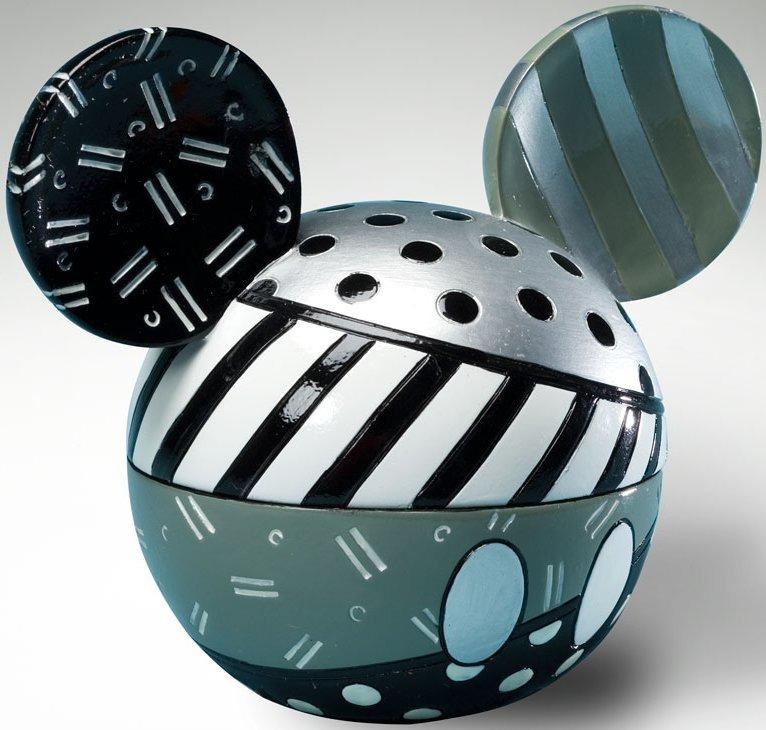 Britto Disney 4021836 Mickey Ears Box B W Covered Box