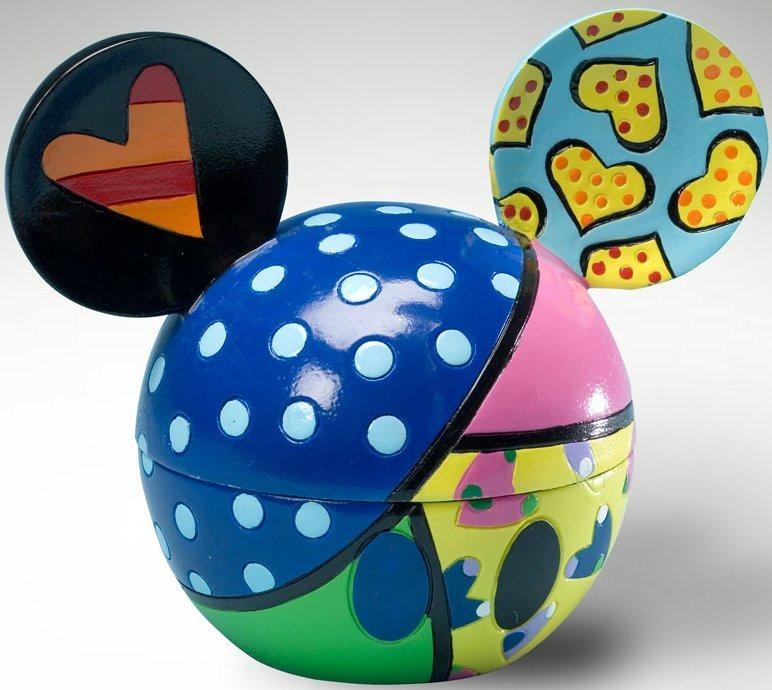 Britto Disney 4021837 Mickey Ears Box Love Covered Box