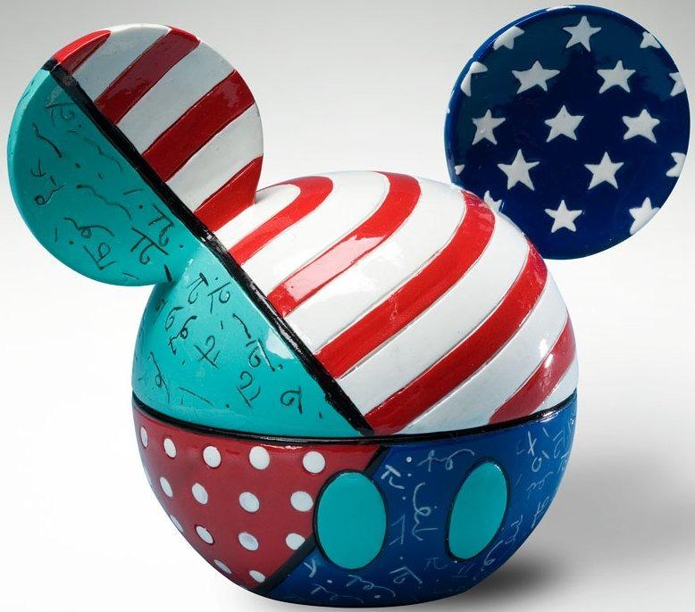 Disney by Britto 4021839 Mickey Ears Box Patriotic Covered Box