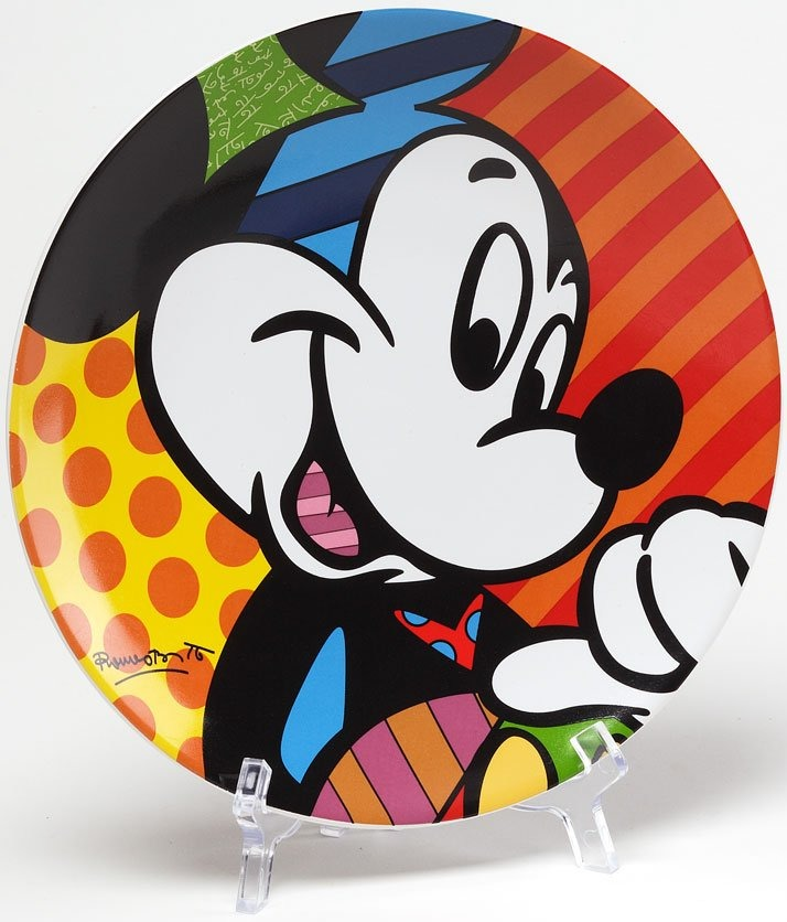 Disney by Britto 4024500 Mickey Plate