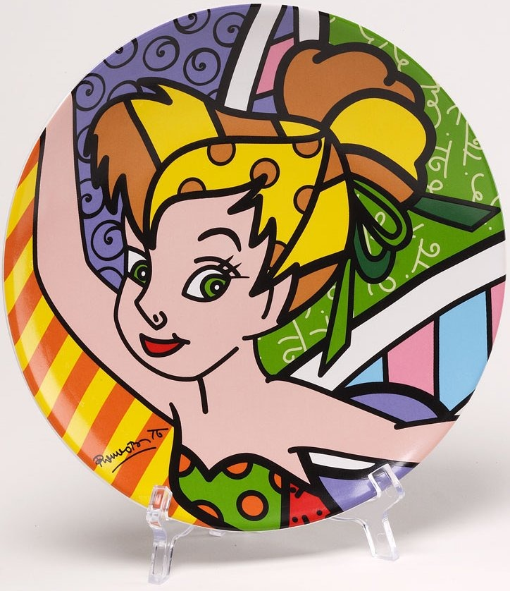 Disney by Britto 4024502 Tinkerbell Plate Plate