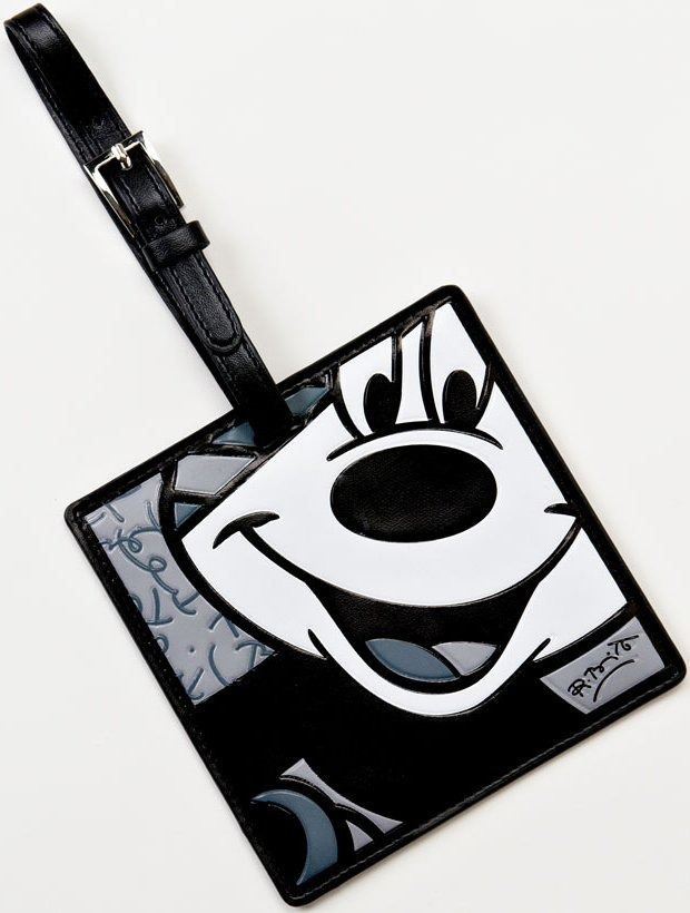 Britto Disney 4024513 Mickey B&W Luggage Tag