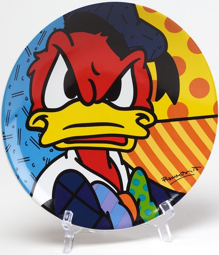 Disney by Britto 4024810 Donald Plate Plate