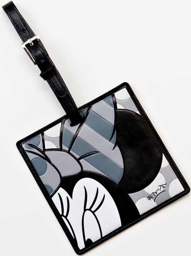 Britto Disney 4024815 B and W Minnie Luggage Tag