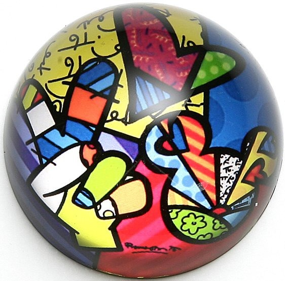 Disney by Britto 4025539 Peace Love Mickey Paperweight