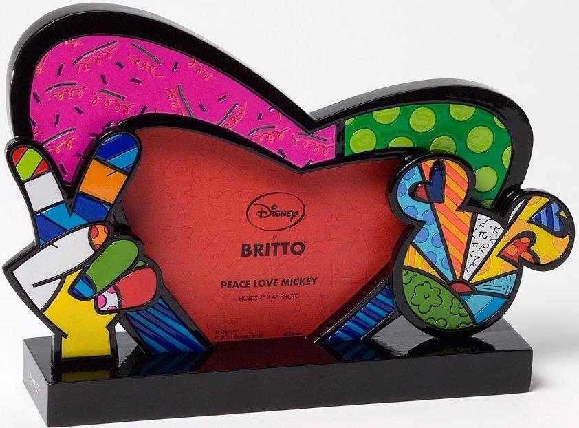 Disney by Britto 4025569 Peace Love Mickey Frame Photo Frame