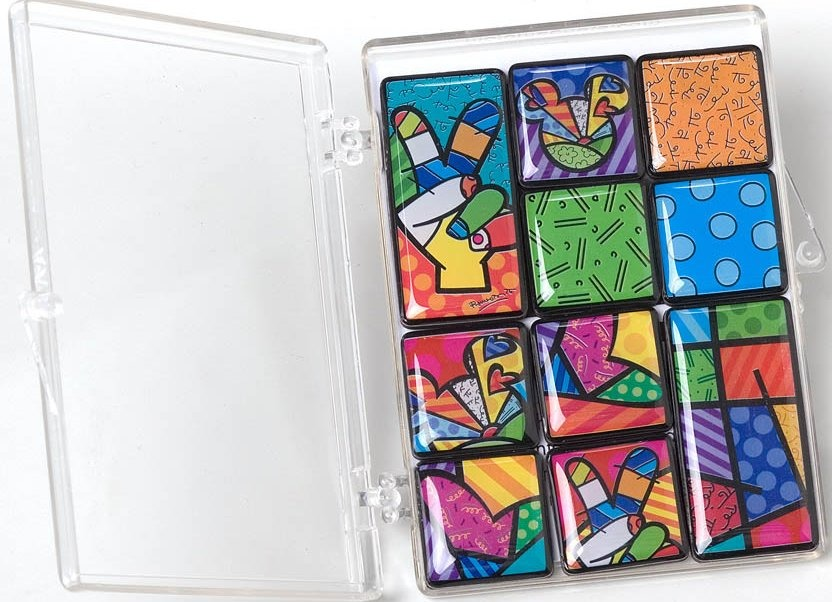 Britto Disney 4025572 Peace Love Mickey Magnet
