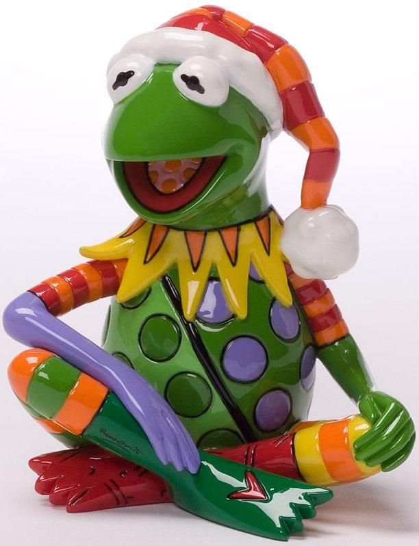 Britto Disney 4027901 Christmas Kermit Mini Figurine