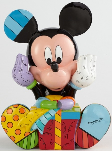 Disney by Britto 4043279 Mickey Birthday Figurine