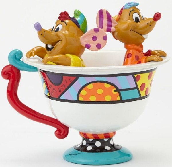 Disney by Britto 4044110 Jaq and Gus in Tea Cup F
