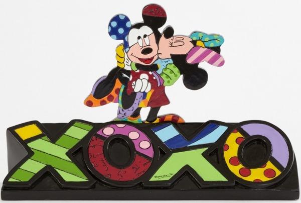Disney by Britto 4044111 Mickey and Minnie XOXO W