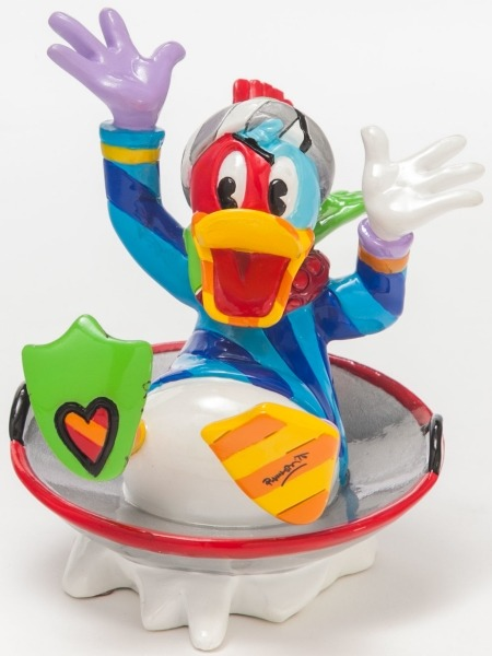 Disney by Britto 4046360 Donald Duck in Disk Sled