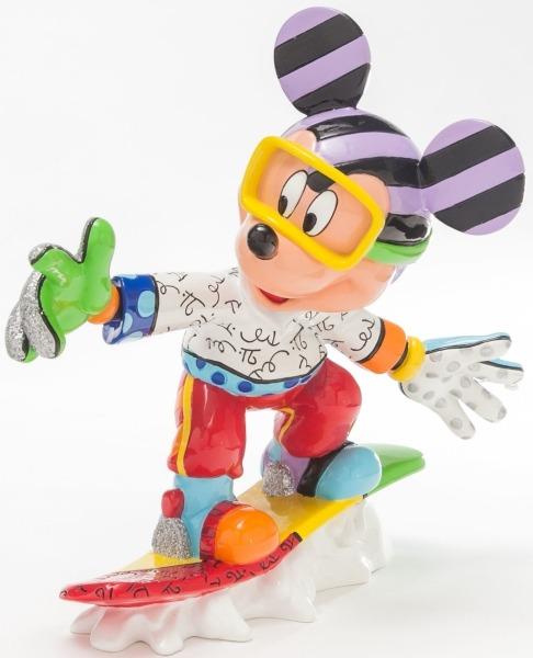 Britto Disney 4046361 Snowboarding Mickey