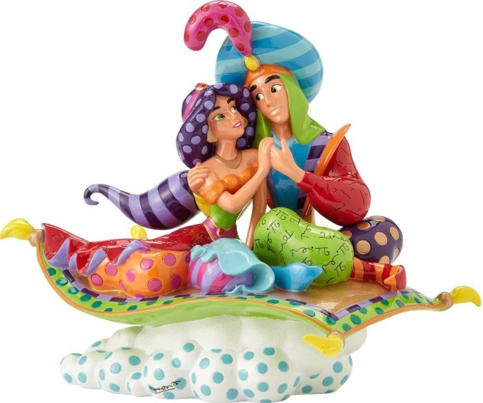 Britto Disney 4055689 Aladdin & Jasmine 25th A