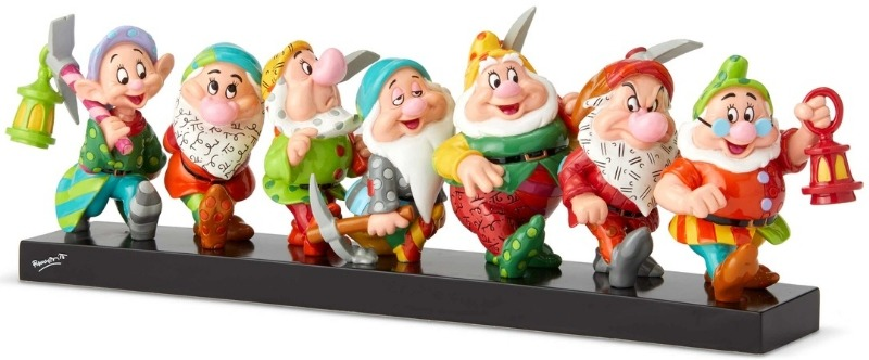 Britto Disney 6001300 Seven Dwarfs on Log