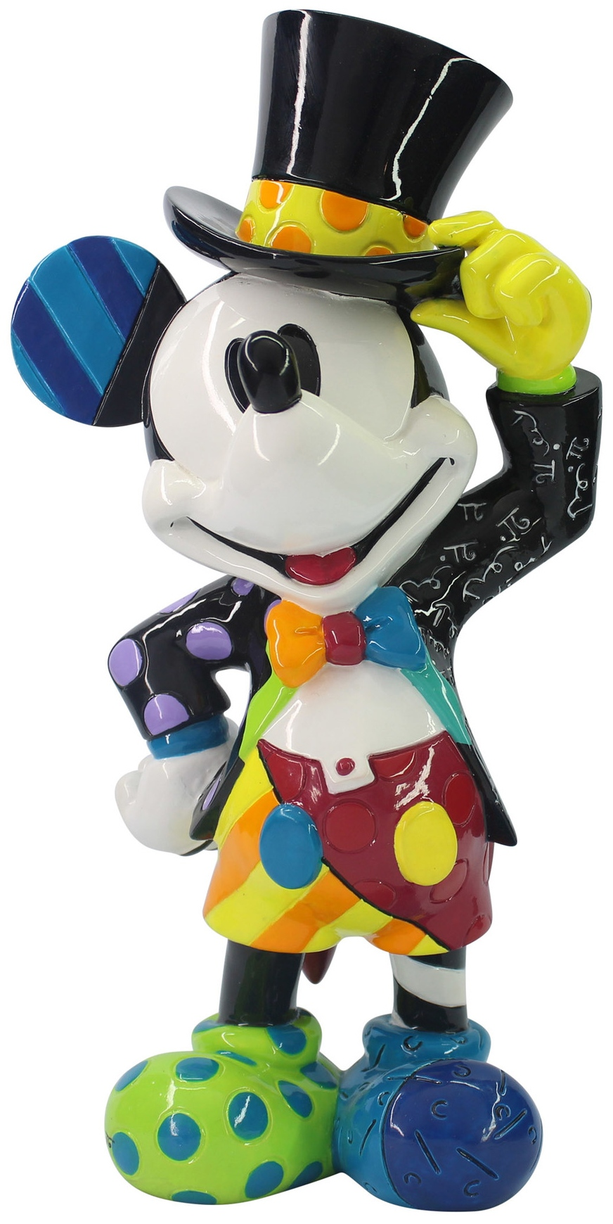 Britto Disney 6006083N Mickey Mouse with Top Hat Figurine