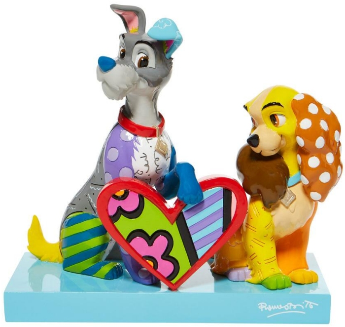 Britto Disney 6008528N Lady and the Tramp Figurine