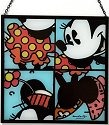 Britto Disney 4019381 Minnie Glass Window Hanger Suncatcher