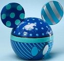 Disney by Britto 4021838 Mickey Ears Box Blue Covered Box