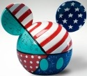 Britto Disney 4021839 Mickey Ears Box Patriotic Covered Box