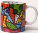 Britto Disney 4025568 Peace Love Mickey Mug