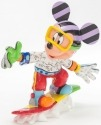 Britto Disney 4046361 Snowboarding Mickey