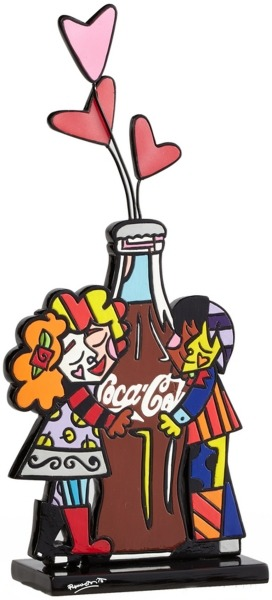 Britto Coca Cola 4043878 Hugging Coke Bottle Figurine