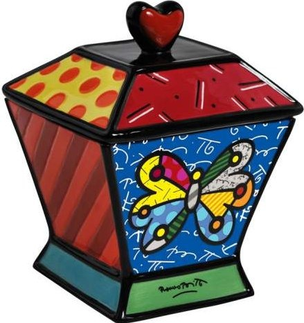 Britto by Westland 22014 Butterfly Canister