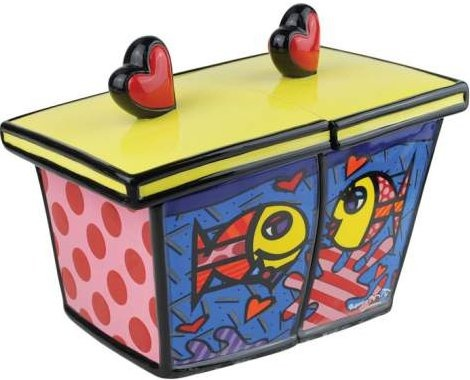 Britto by Westland 22015 Deeply In Love Fish Canister
